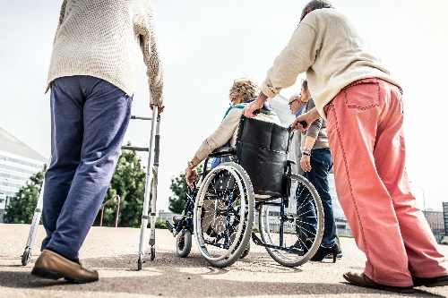 When I go out locally I find it difficult to walk far or use a wheelchair and would like to know what facilities are available