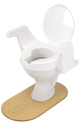 Enterprise Raised Toilet Seat - Deluxe (with arms and lid) 10cm or 4in