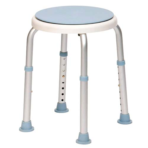 Image of the Adjustable round shower stool