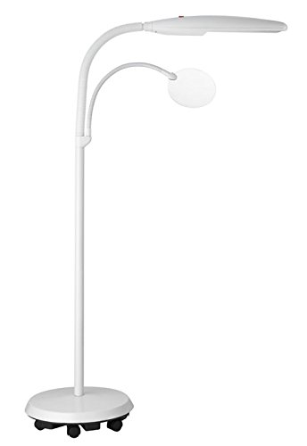 Image of the Floor lamp with removable 1.75x magnifier