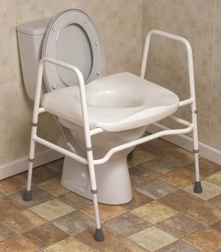 Mowbray Toilet Seat & Frame Free Standing - Extra Wide
