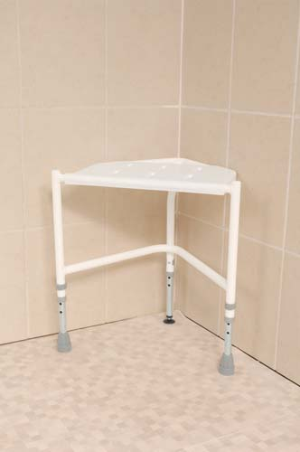 Image of the Corner Shower Stool (Height Adjustable)