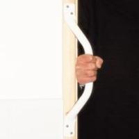 Cranked Grab Rail (white) - 44.5cm (17.5in)