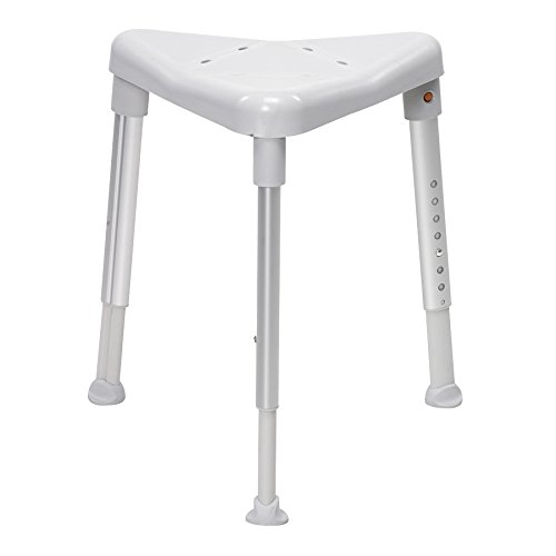 Image of the Edge Grey Shower Stool