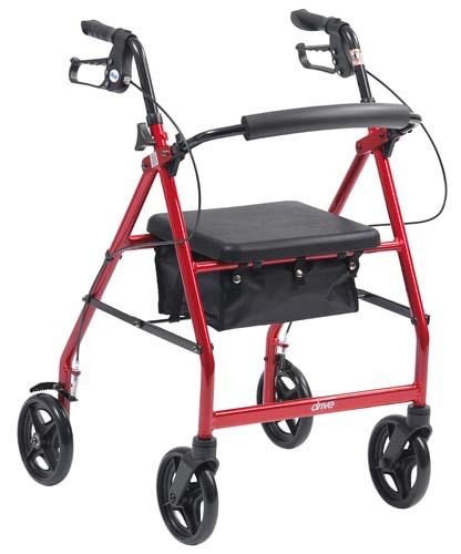"""Image of the Lightweight Aluminium 4 Wheeled Rollator (6"""")"""