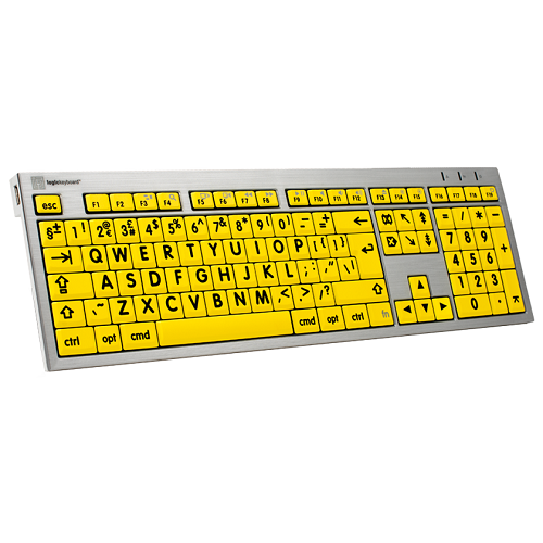 Image of the Large Print Keyboard - Yellow and Black (Mac Only)