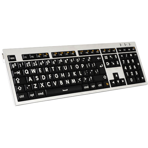 Image of the Large Print Keyboard - Black and White (Mac only)