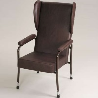 Image of the High Back Chair with wings and padded arms