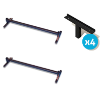 Image of the Alexander Universal Adjustable Height Bed Raiser with Angle Bracket