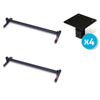 Image of the Alexander Universal Adjustable Height Bed Raiser with Flat Plates
