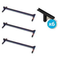 Image of the Alexander Universal Adjustable Height Large Bed Raiser with Angle Brackets
