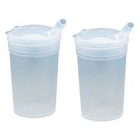Image of the Feeding Beakers and Lids - Twin Pack - 3mm Spout Hole