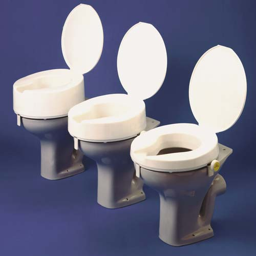 Ashby Raised Toilet Seat   6in or 15 cm Deluxe (with easy screw fixings and lid)