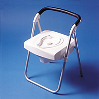 Voyager Folding Commode Chair