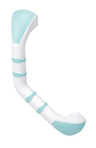 Prima Angled Grab Bar Mint and White 40cm or 16in