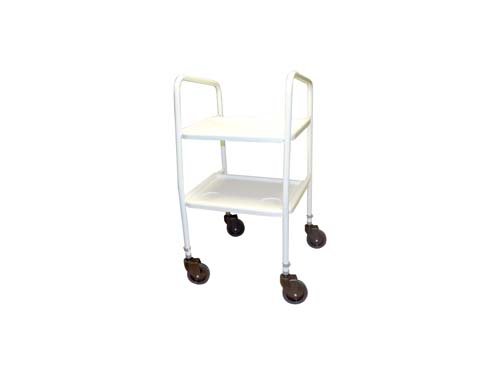 Dorchester Trolley, height adjustable with 2 plastic trays