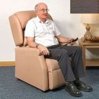 Image of the Raglan Tilt in Space Rise and Recline Chair 16in - Vinyl Brown