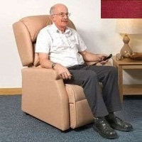 Image of the Raglan Tilt in Space Rise and Recline Chair 16in - Velour Burgundy