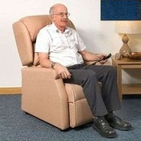 Image of the Raglan Tilt in Space Rise and Recline Chair 16in - Velour Blue