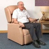 Image of the Raglan Tilt in Space Rise and Recline Chair 16in - Panvelle Chocolate