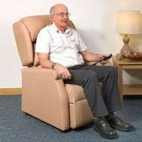 Image of the Raglan Tilt in Space Rise and Recline Chair 16in - Panvelle Tenby Beige