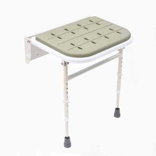 NRS Healthcare Wall Mounted Folding Shower Seat