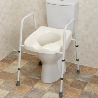 Mowbray Toilet Seat & Frame Lite - Fixed Width - Assembled