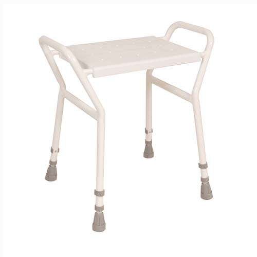 Image of the Shower Stool with Handles (Height Adjustable)