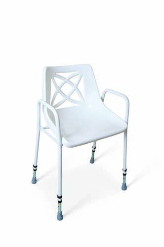 Stackable Utility Shower Chair - Adjustable Height
