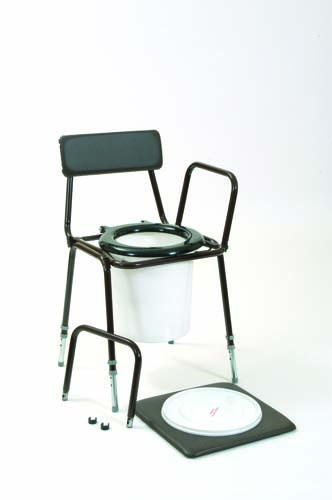 Chemiloo Commode - Detachable Arms and Adjustable Height