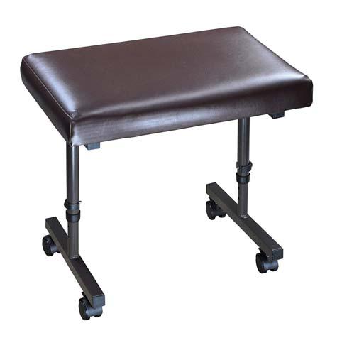 Image of the Adjustable foot or leg rest on castors