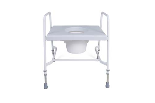 Extra Wide Raised Toilet Seat and Frame
