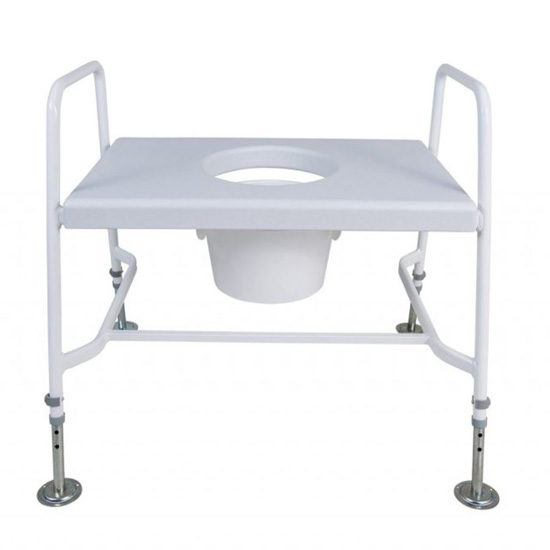 Extra Wide Raised Toilet Seat and Frame (Floor fixed)