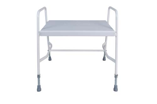 Extra wide shower stool