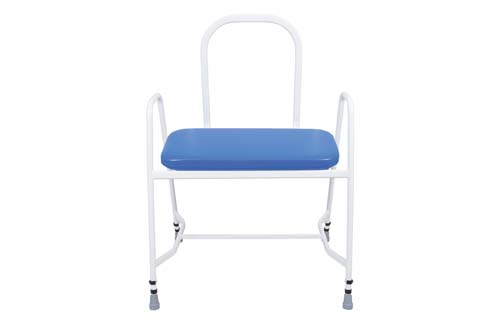 Bariatric Perching Stool - Arms & Steel Back