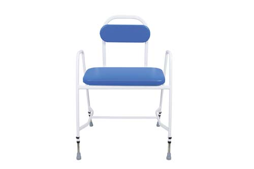 Bariatric Perching Stool - Arms & Padded Back