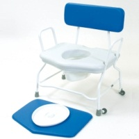 Bariatric commode - fixed height and fixed arms