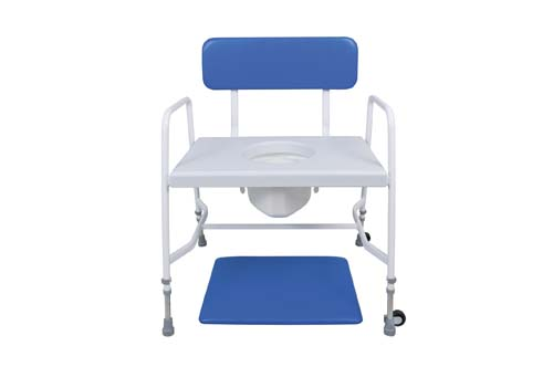 Bariatric Adjustable height and fixed arms commode